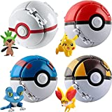 Pokémon Pikachu Pop Poké Ball Repeat Ball Figure Set