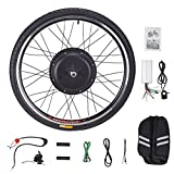 Pinty FT1010 26' Front Wheel 48V 1000W Ebike Hub Motor Conversion Kit with Dual Mode Controller & Disc Brake for Electric Bicycle Bike, Up to 28-30 MPH