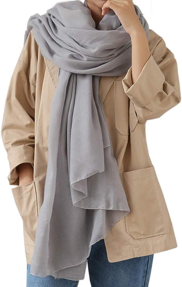 WKTRSM Bufandas Mujer Invierno Estolas Elegantes Fulares Moda Larga Grandes Suave Chales Mantón para Primavera Otoño Invierno 180cm * 145cm
