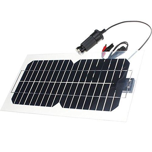 farwind 18V 5,5W, 31,5x 16,5x 0,15cm transparente semi-flexible Panel Solar con cables
