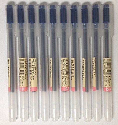 MUJI Gel Ink Ballpoint Pens 0,7 mm Blue-Black 10 pezzi by Muji