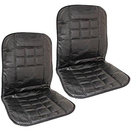 Hardcastle Vordersitzauflage Auto, Echtleder - Rückenmassage-Kissen - EIN Paar