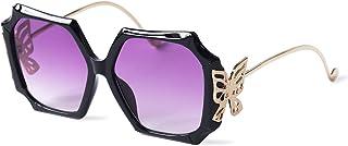 CHAOBUND نظارات شمسية عصرية على شكل فراشة للنساء - نظارات شمسية عصرية للنساء مع حماية من الأشعة فوق البنفسجية - إكسسوار را...