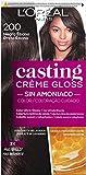 L'Oreal Paris Casting Crème Gloss Coloración Sin Amoniaco, Tono: 200 Negro Ébano