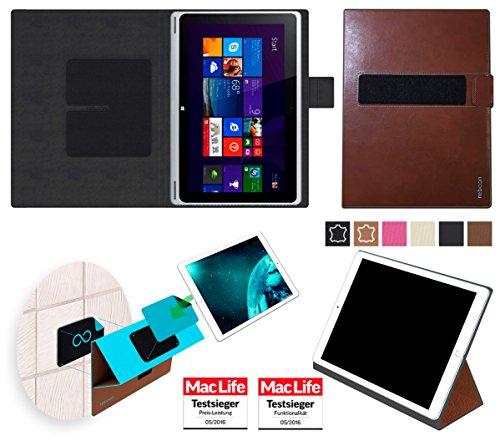 reboon Hülle für Acer Aspire Switch 10 V Tasche Cover Case Bumper | in Braun Leder | Testsieger
