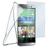 MoEx® Silikon-Hülle für HTC One M8 | + Panzerglas Set [360 Grad] Glas Schutz-Folie mit Back-Cover Transparent Handy-Hülle HTC One M8 / M8s Hülle Slim Schutzhülle Panzerfolie