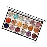 18 Colori Ombretti Glitter Palette Ombretto Brillantinati Tavolozza di Trucco - Occhi Ombra Diamante Shimmer Makeup Polvere Powder per Labbra #2