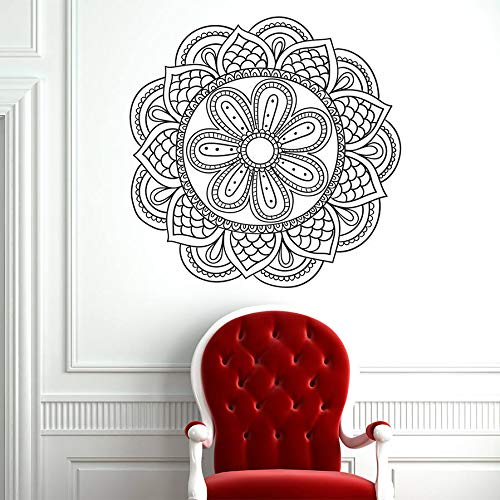 Mandala Flowers Yoga Wall Sticker Home Decor Living Room Ornament Moroccan Pattern Lotus Flower Decal A4 42x42cm