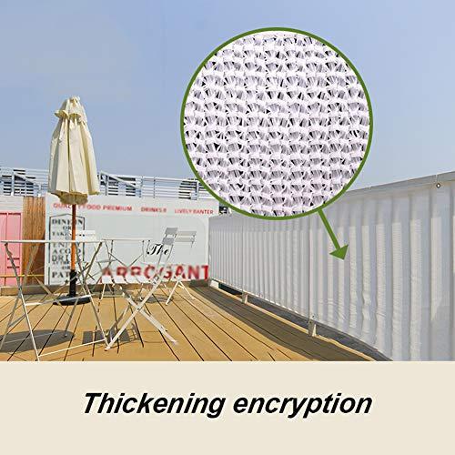 HLMBQ 90% Malla de sombreo (Blanca 2 x 1 m) Malla Ocultación con Engrosamiento de cifrado Resistente y Transpirable Estanque terraza Red de Jardín