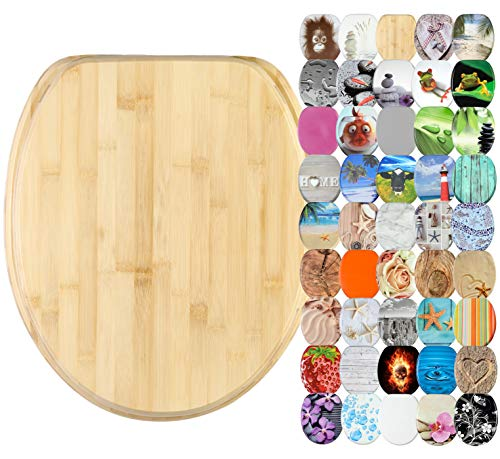 WC Sitz, viele schöne WC Sitze zur Auswahl, hochwertige und stabile Qualität aus Holz (Bambus)
