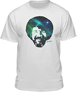 Bob Ross Officially Licensed Galaxy Face White Unisex T-Shirt