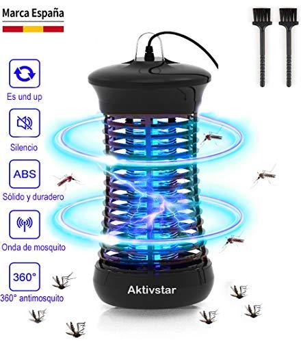 Aktivstar Lámpara AntiMosquitos, Mata Mosquitos Electrico Mosquitos Killer, UV Luz Lampara para Mosquitos, Moscas, Insectos