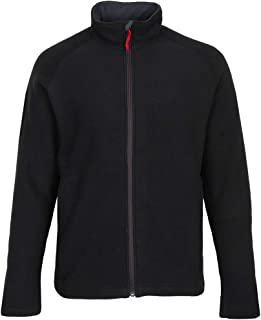 2 zippered pockets Breathable Gill Mens I4 Warm Fleece Mid Layer Coat Jacket Coat Black with thermal insulation