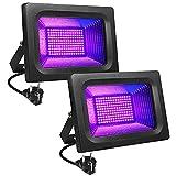 LITAKE UV LED Luz Negra, 30W Violeta Foco UV Ultravioleta, IP65 Impermeable Blacklights 395-400nm UV Led Luz de Inundación para Halloween, Acuario, Fiesta, Pintura Fluorescente, Bar