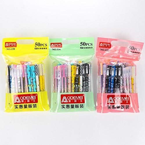 Vesna 50 pcs Lot lowest price Kawaii gel pens ballpoint color Max 85% OFF pen 10 ink Ball