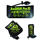 Calculated Industries 1132 AirShim Inflatable Pry Bars and Leveling Tools 4-pc Value Pack – 2 Original AirShims, 1 AirShim Pro XL, and 1 AirShim Slim | Contractor-Grade Pump Wedges | Set of 4