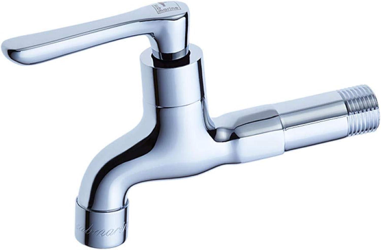 Wasserhahn lange Einzelne Kaltwasserdüse Mopp Pool Wasserhahn 4 Punkte Schnellspritzer ffnen