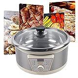 Hot Pot - Olla caliente eléctrica antiadherente con temporizador y termostato, 5 L, 1300 W, para fiestas familiares en casa