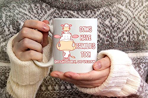 Younini Cow Have Families Too Cow Cow Coffee Mug Taza de café de vaca divertida taza taza de taza de café taza para vaca orkers taza de Navidad divertida taza de vaca 11 Oz taza