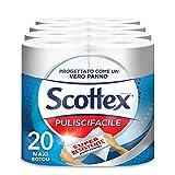 Scottex Puliscifacile, Carta Resistente Per Tutte Le Superfici, 20 Maxi Rotoli Per La Puizia E L'Igiene Della Casa - 5230 Gr