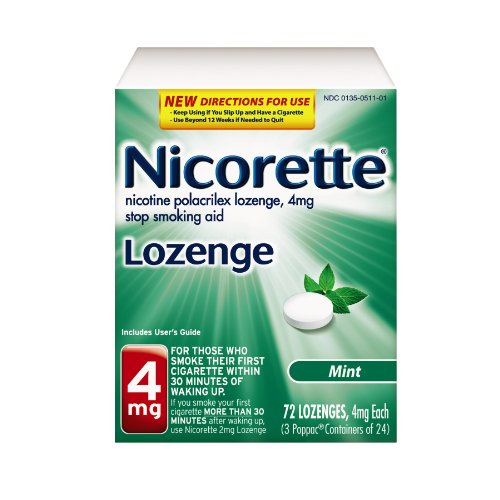 Nicorette 4mg Mini Nicotine Lozenges to Quit Smoking - Mint Flavored Stop Smoking Aid, 72 Count