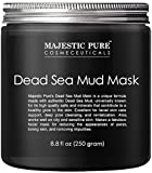 MAJESTIC PURE Dead Sea Mud Mask - Natural Face and Skin Care for Women and Men - Best Black Facial...
