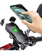 Kaedear(カエディア) バイクスマホ ホルダー バイク用 【 クイックホールド 】 携帯ホルダー iphone galaxy android スマートフォン スイッチ ミラー マウント 360度回転 スイッチ 原付 オートバイ