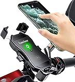 Kaedear(カエディア) バイク ワイヤレス充電 ホルダー スマホ qi usb スマホホルダー バイク用 【 クイックホールド qi&USB 切替 】 充電 携帯ホルダー ワイヤレス iphone galaxy android その他qi対応 スマートフォン 充電器 電源 スイッチ qi充電 15W 10W 7.5W 5W ミラー マウント 360度回転 スイッチ 原付 オートバイ (Qiワイヤレス充電/USB充電)