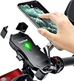 Kaedear(カエディア) バイク ワイヤレス充電 ホルダー スマホ qi usb スマホホルダー バイク用 【 クイックホールド qi&USB 切替 】 充電 携帯ホルダー ワイヤレス iphone galaxy android その他qi対応 スマートフォン 充電器 電源 スイッチ qi充電 15W 10W 7.5W 5W ミラー マウント 360度回転 スイッチ 原付 オートバイ (QI+USB)