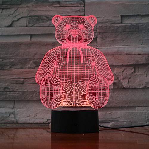 ZZFGXX Veilleuse-Winnie L'ourson-touch Veilleuse 7 Couleurs/Lumière Pour Enfants/Lanterne Magique/Lumière De Cadeau De Nouvel An/Lumière De Sommeil/Lumière D'atmosphère