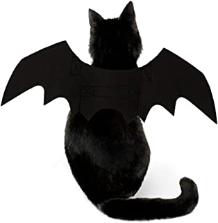 ANTIFUR Cat Halloween Costume - Halloween Cat Bat Wings Cosplay - Pet Costumes Apparel for Cat Small Dogs Puppy for Cat Dress Up Accessories Halloween Pet Bat Wings Cat Dog Costume