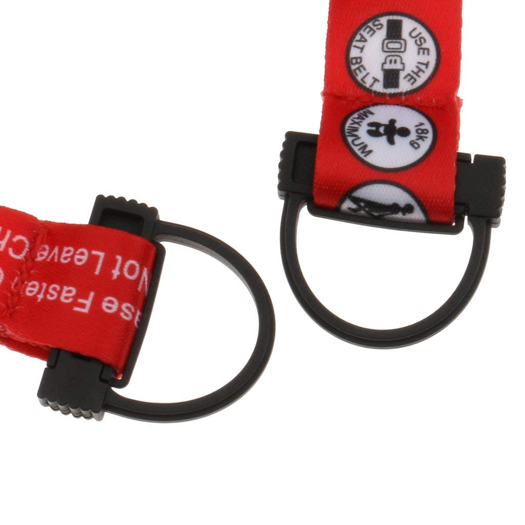 Hooshing Kids Baby Safety Seat Belt Adjustable Supermarket Shopping Cart Belt Chair Seat Belts Red, 2 Pack