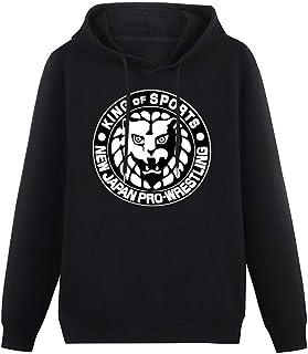 BJE Men's Pullover Japan PRO Wrestling Njpw Logo Martial Art Single-Side Print Sweater