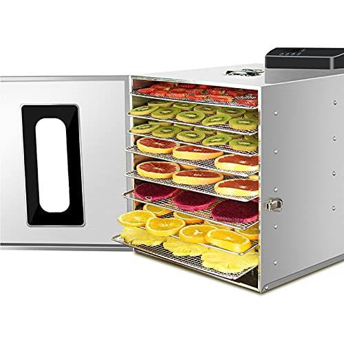 EFGS Secador de Frutas de 8 Pisos, deshidratadores para Alimentos y cecina, Panel de Control de Pantalla táctil para Secadora de Alimentos, Ajuste Inteligente de Temperatura