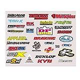LNSGA Pegatina de Casco de Motocicleta 30pcs / Set, la calcomanía reflectiva del Casco de Motocross para automóviles, Bicicletas, Motocicletas, Camiones, Equipaje