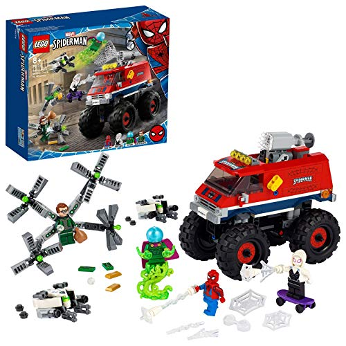 LEGO76174SuperHeroesMarvelSpider-ManMonsterTruckdeSpider-Manvs.MysterioconFigurasdeDoctorOctopusySpider-Gwen