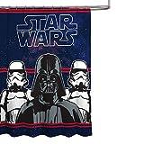 STAR WARS Darth Vader Microfiber 70' x 72' Fabric Shower Curtain
