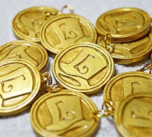Professor Layton - Hint Coin Charm 2.0 - Keychain Fanart Cosplay Videogame - レイトン教授 Nintendo DS Puzzle Mystery - Luke Triton Curious Village