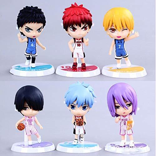 Toy 6PCS Kurokos Basketball Action-Figur Sammlung Animierte Charakter Modell Statue Dekoration Kinder Geschenke 7 cm
