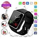 Smart Watch,Bluetooth Smart Watch for Andriod Phones, Smartwatch with Camera,Waterpfoof Smart Watches,Watch Phone Touchscreen for Android Samsung iOS Plus Men Women Youth