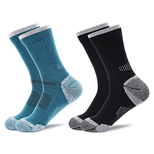 Kooogear Men's Merino Wool Blend Hiking Socks