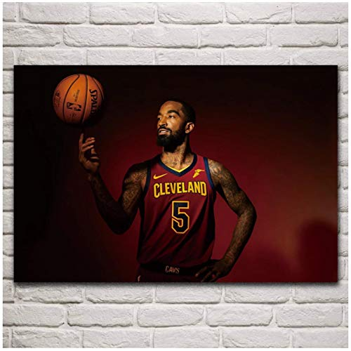 Jr smith jugador de baloncesto retrato obra de arte póster sala de estar pared del hogar lienzo decorativo impresiones de arte 24x32 pulgadas 1 piezas sin marco