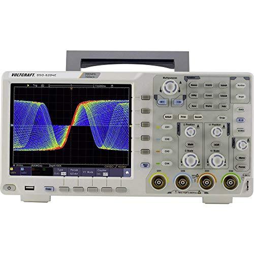 VOLTCRAFT DSO-6204E Digital-Oszilloskop 200 MHz 4-Kanal 1 GSa/s 40000 kpts 8 Bit Digital-Speicher (DSO)