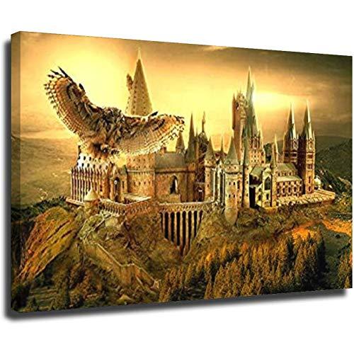 Art Inn Modern Wall Poster Stampa artistica su tela di canapa Home Decor Decorazione della parete su tela di canapa Art Hogwarts Unframe-style1 50 × 75 cm