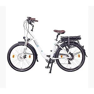 """NCM Munich Bicicletta elettrica da città (26"""" Bianco)"""