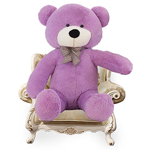 YXCSELL Purple Cuddly Super Soft Plush Stuffed Animal Toys Teddy Bear Toy Doll 47 Inches
