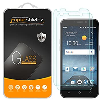 2 Pack  Supershieldz Designed for ZTE Maven 3  AT&T  Tempered Glass Screen Protector Anti Scratch Bubble Free