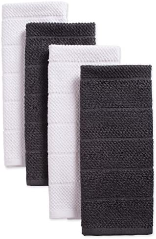 DII Cotton Luxury Chef Terry Dish Towels 16x26 Set of 4 Ultra Absorbent Cleaning Drying Kitchen product image