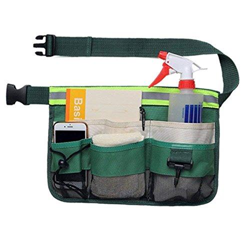 Werkzeuggürtel, Werkzeugtasche mit 7 Taschen reflektierenden Streifen, für Gartenarbeit...