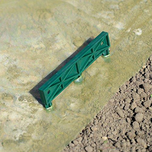 Nature Lot de 4 Griffes de Fixation au Sol en Plastique pour Film de forçage
